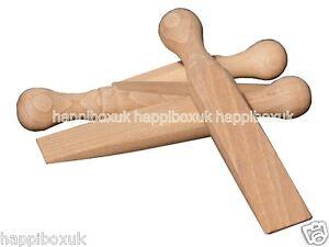 4 Wooden Door Stop Stopper Jam Jammer Wedge Stops Doorstop