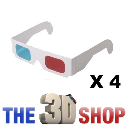 4 X 3D GLASSES RED/BLUE ANAGLYPH FOR 3D DVD GAME in DVDs & Movies, Storage & Media Accessories | eBay