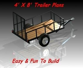 4 X 8 Utility / Landscape Trailer Plans - Step By Step - Easy To Build in Everything Else, Information Products, Other | eBay