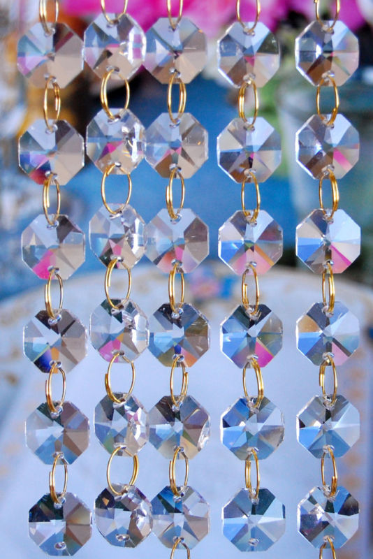 6 Candle Empire Chandelier - Crystal Ball Chain [ZHLL602-CRY