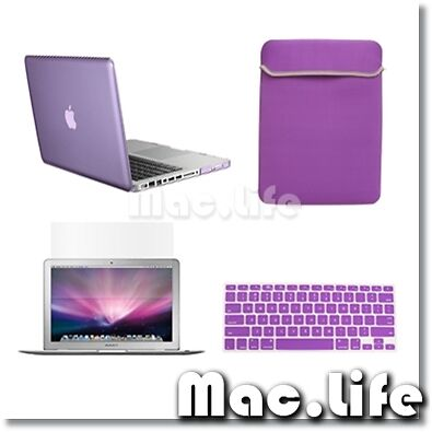 """4 in1 Crystal PURPLE Case for Macbook PRO 13"""" + Keyboard Cover + LCD Screen+ Bag in Computers/Tablets & Networking, Laptop & Desktop Accessories, Laptop Cases & Bags 