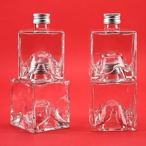 4 leere glasflaschen lik rflaschen schnapsflaschen 250 ml mystic whisky flasche ebay. Black Bedroom Furniture Sets. Home Design Ideas