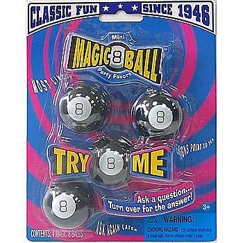 4 pack mini MAGIC 8 BALL-Answer Classic Retro Toy New Party Favor Fortune Teller in Toys & Hobbies, Classic Toys, Other | eBay