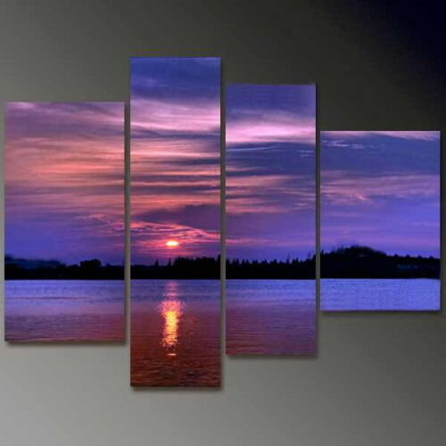 """4 pieces Large Modern Abstract Art Oil Painting Wall Decor """"Sunset"""". NO frame in Art, Direct from the Artist, Paintings 