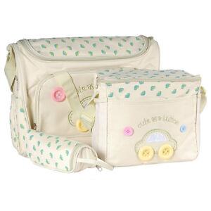 4-tlg-Baby-Wickeltasche-Pflegetasche-Kindertasche-Babytasche-Beige