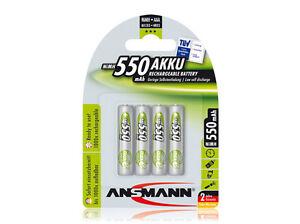 4-x-Ansmann-Power-Akku-550mAh-AAA-Micro-1-2V-Schnellladefaehrig-NiMh-NEU-OVP
