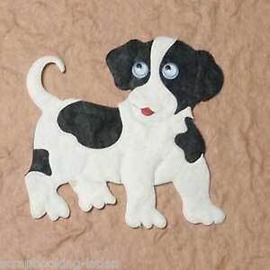 4 x hund mit wackelaugen 5 5 cm scrapbooking 3d basteln ebay. Black Bedroom Furniture Sets. Home Design Ideas