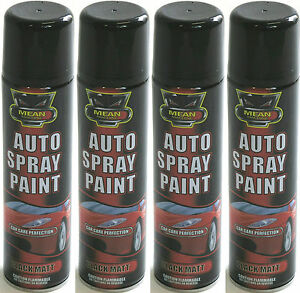 matt black aerosol spray cans 300ml cars vans auto spray paint ebay. Black Bedroom Furniture Sets. Home Design Ideas