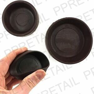 4 X Rubber Castor Cups Small Or Large Brown Chair Sofa Floor Protector Grip Ebay
