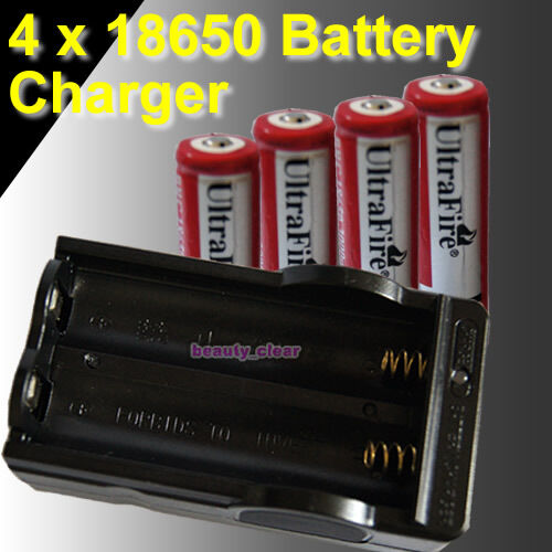4 x UltraFire 18650 3.7v 3000mAh Protected Rechargeable Battery WITH CHARGER in Consumer Electronics, Multipurpose Batteries & Power, Rechargeable Batteries | eBay