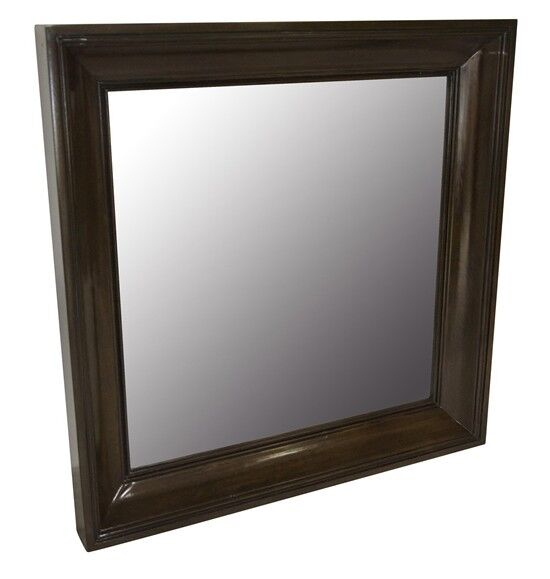 40 square mirror distressed brown birch wood spectacular for Mirror 40 x 60