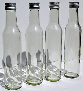 40 x 250 ml leere glasflaschen schnapsflasche lik rflaschen flasche 0 25 liter ebay. Black Bedroom Furniture Sets. Home Design Ideas