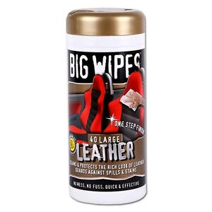 40 x big wipes leather seat interior car cleaning cleaner ebay. Black Bedroom Furniture Sets. Home Design Ideas