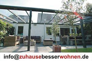 4000-x-2500-mm-VSG-Glas-Alu-Terrassendach-Veranda-Carport-Terrassenueberdachung