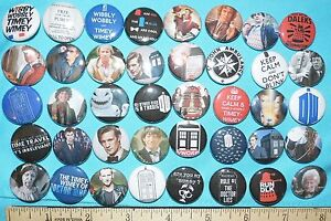 40pc-DR-WHO-set-2-1-inch-pinback-buttons-Assorted-lot-tv-showt-villians-shirt