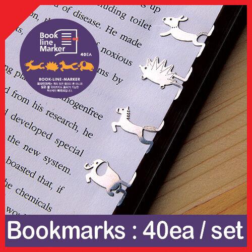40pcs ANIMAL MARATON metal mini BOOKMARK clip type with case Korean fashion rare in Books, Accessories, Bookmarks   eBay