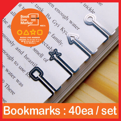 40pcs DREAM of SQUARES metal mini BOOKMARK clip type with case Korean fashion in Books, Accessories, Bookmarks | eBay