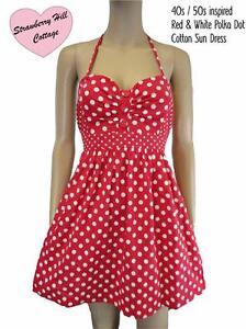 Polka  Dress on Style Red White Cotton Polka Dot Sun Beach Summer Short Dress   Ebay