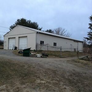 40x80 pole barn metal building complete with doors windows