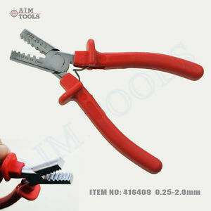 416409 mini cable end sleeves ferrules crimping tool crimper plier ebay. Black Bedroom Furniture Sets. Home Design Ideas