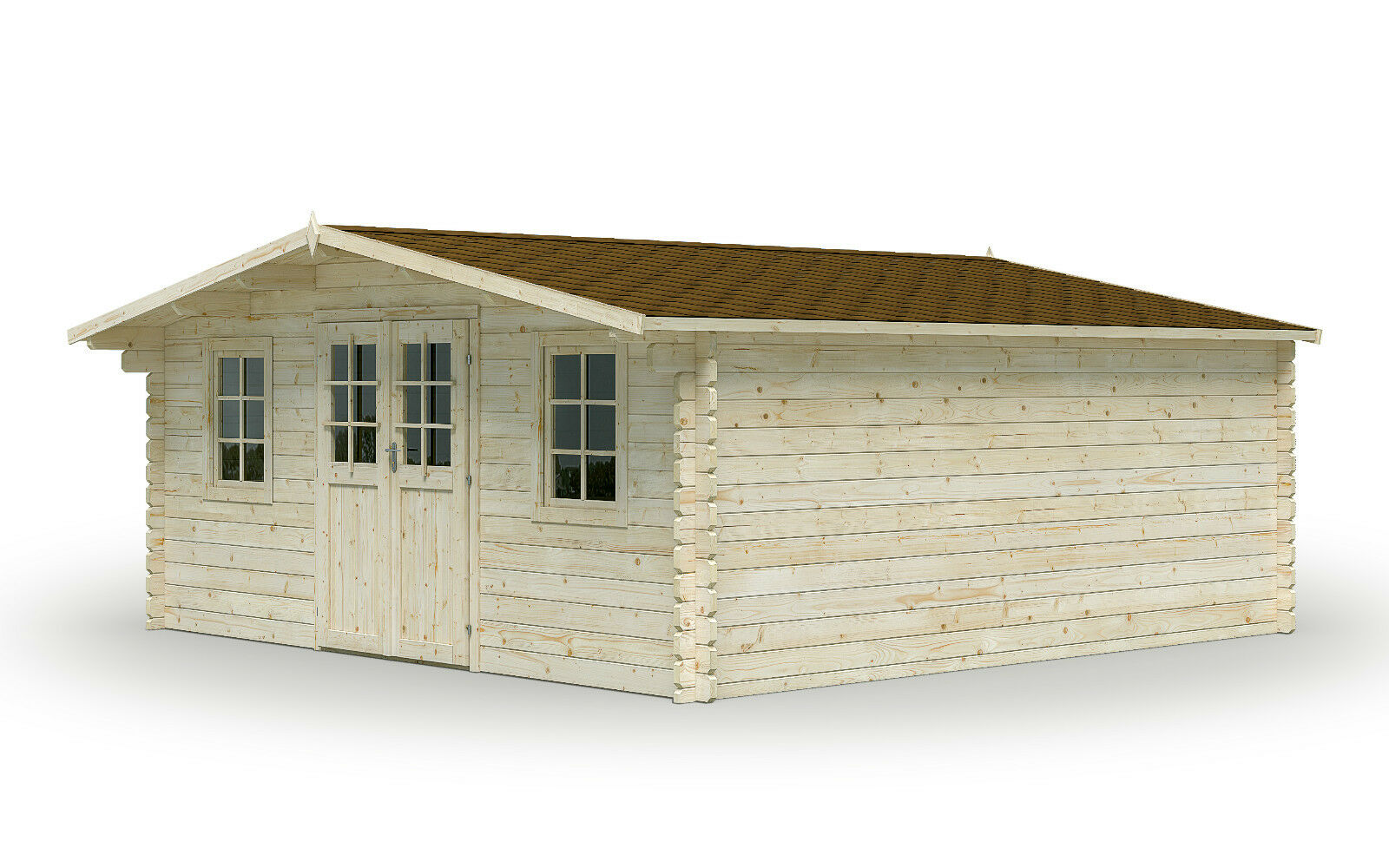 44 mm gartenhaus gera 500x500 cm ger tehaus schuppen holz holzhaus blockhaus ebay. Black Bedroom Furniture Sets. Home Design Ideas