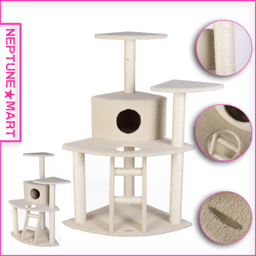 "45"" BEIGE Cat Tree Condo House Scratcher Pet Furniture Bed-23 in Pet Supplies, Cat Supplies, Furniture & Scratchers | eBay"
