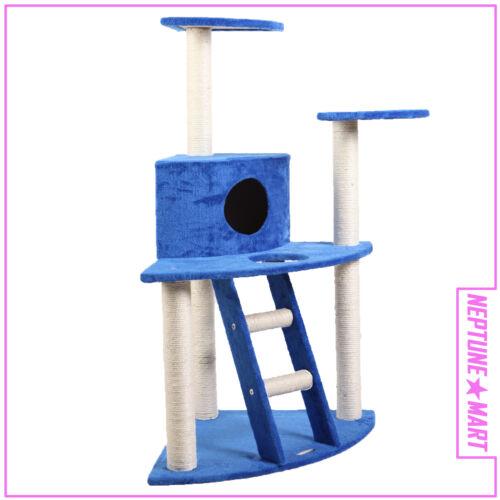 "45"" BLUE Cat Tree Condo House Scratcher Pet Furniture Bed-23 in Pet Supplies, Cat Supplies, Furniture & Scratchers | eBay"