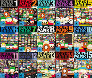 45-DVDs-SOUTH-PARK-SEASON-1-15-IM-SET-NEU-OVP