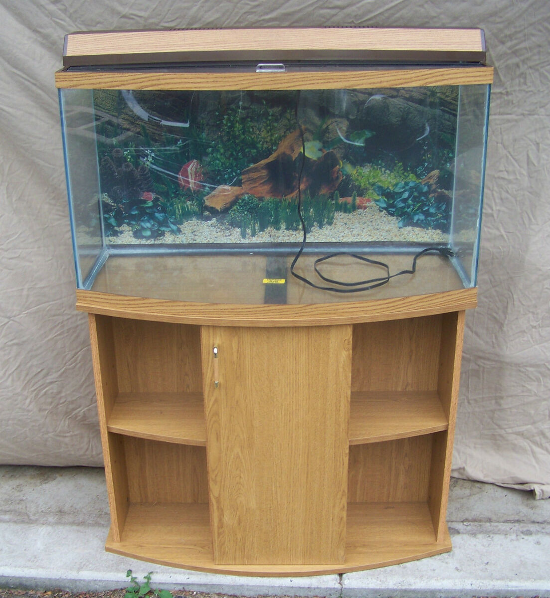 Fish tank stand bow front bowfront aquarium stands for 90 gallon fish tank stand