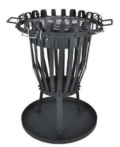 46010 feuerkorb mit grilleinsatz grill grillen ebay. Black Bedroom Furniture Sets. Home Design Ideas