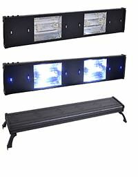 48'' 300w Metal Halide Aquarium Light 2x 150 LED Hood REEF Brand New ju99 in Pet Supplies, Aquarium & Fish, Lighting | eBay