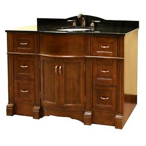Bathroom Vanities on Details About 48  Bathroom Single Sink Vanity Cabinet W Free Mirror