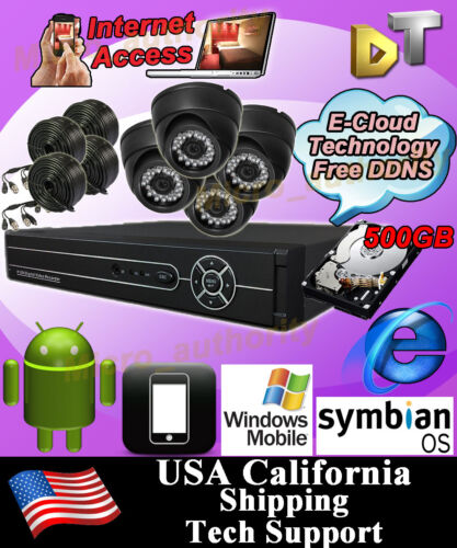 4CH 4 CHANNELS Home Video Surveillance CCTV DVR Security System + 4 color Camera in Consumer Electronics, Home Surveillance, Digital Video Recorders, Cards | eBay