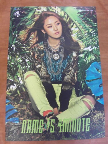 4MINUTE - (GAYOON) Name Is 4Minute [OFFICIAL] POSTER *NEW* K-POP in Entertainment Memorabilia, Music Memorabilia, Other | eBay