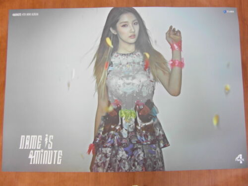 4MINUTE - (JIHYUN) Name Is 4Minute [OFFICIAL] POSTER *NEW* K-POP in Entertainment Memorabilia, Music Memorabilia, Other | eBay