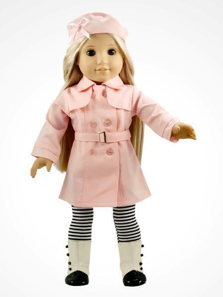 4PC pink Doll Clothes outfit for 18'' american girl K7B