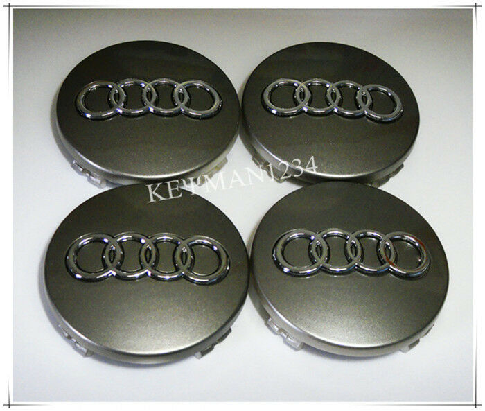 4pcs 60mm Wheel Center Caps Central Hub for Audi A3 A4 A6 A8 TT Q5 Q7