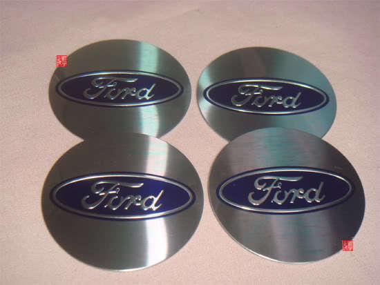 4pcs Ford Car Logo Wheel Center Cap Decal Stickers Emblem Badge Diameter 55mm