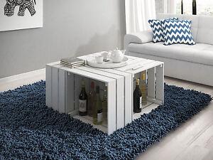 4er set dekokisten aus holz holzkiste weinkiste allzweckkiste weinregal wei 6 ebay. Black Bedroom Furniture Sets. Home Design Ideas