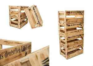 4er set weinkisten aus holz holzkiste allzweckkiste. Black Bedroom Furniture Sets. Home Design Ideas