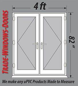4ft 5ft 6ft wide white pvc upvc french doors new open in for 6 ft wide french doors