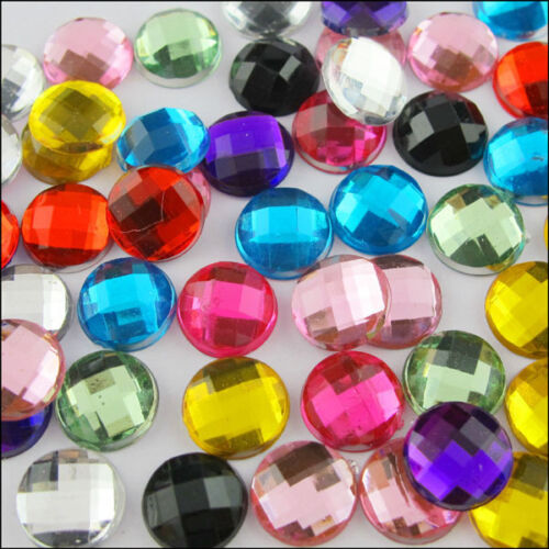 4mm 6mm 8mm 10mm Round Flatback Faceted Rhinestone Scrapbooking Craft Decoration in Crafts, Beads & Jewelry Making, Beads, Pearls & Charms | eBay