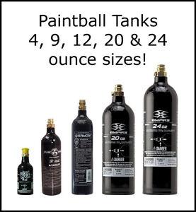 eBayPaintball Co2 Tank Sizes