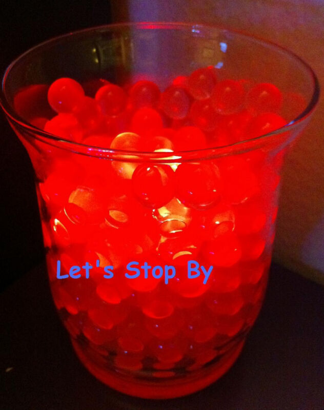 4oz Red Water Pearl 12 LED submersible Wedding Home Decoration Tea light