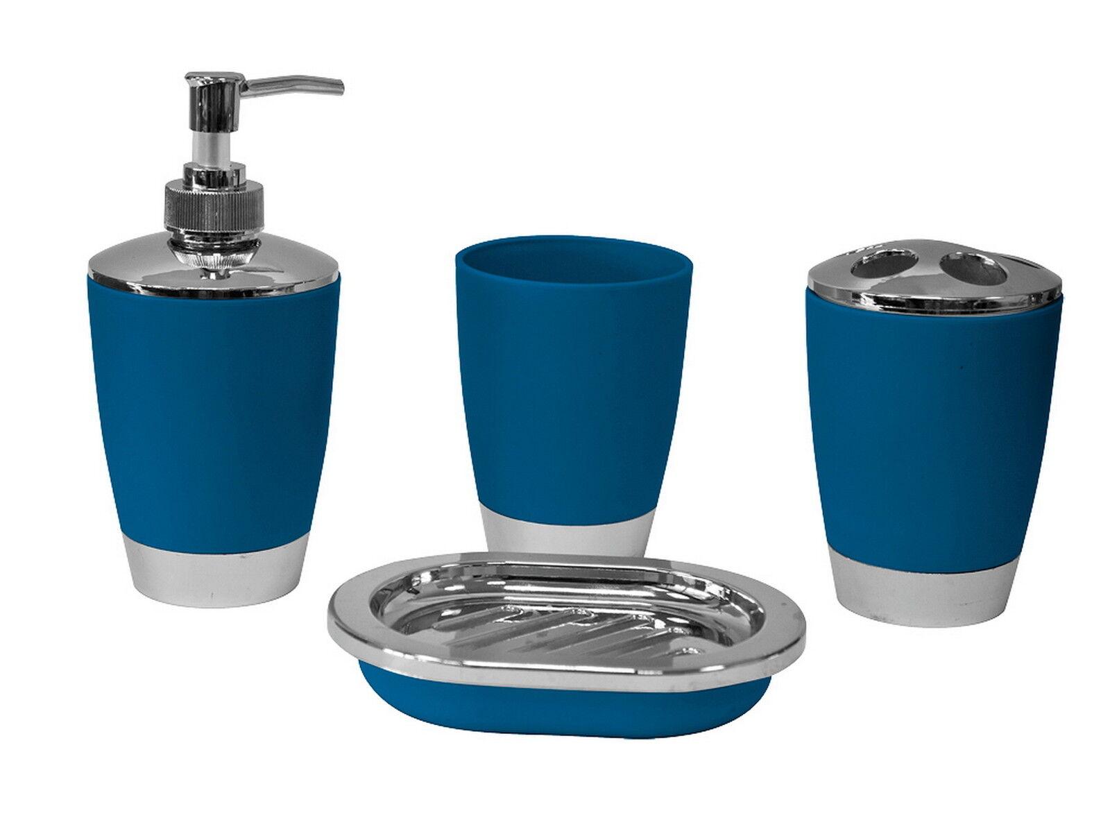4pc bathroom accessory set tumbler lotion dispenser soap Soap lotion dispenser set