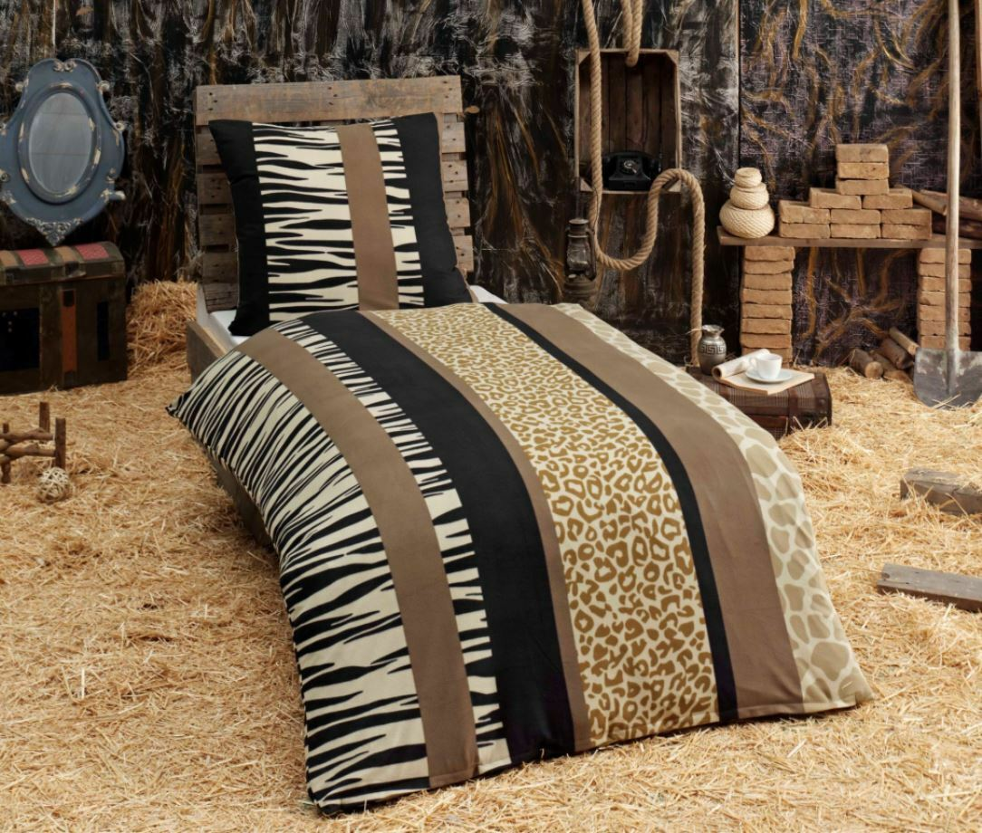 warme winter bettw sche microfaser flausch fleece fell 135x200 ebay. Black Bedroom Furniture Sets. Home Design Ideas