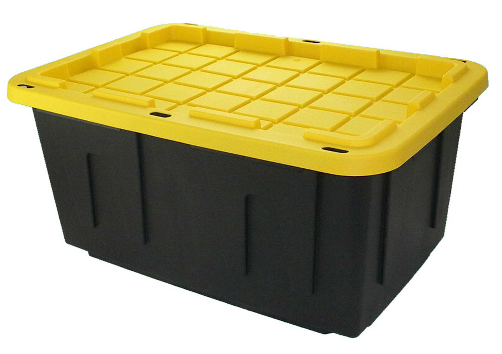 heavy duty large 26x18x12 15gallon industrial plastic storage container tote 6pk ebay. Black Bedroom Furniture Sets. Home Design Ideas