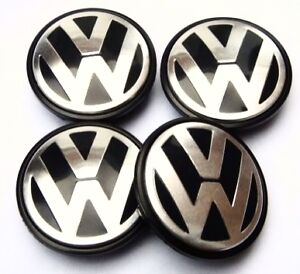 4x-New-VW-Alloy-Wheel-Centre-Caps-Touareg-T4-T5-Transporter-75mm-Hub-Cover