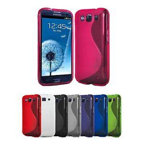 4x-S-Line-Huelle-Samsung-Galaxy-S3-Handy-Schutzhuelle-Tasche-Silikon-Case-2x-Folie