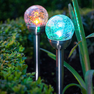 4x solar kugel solarleuchte garten solar lampe solarlichter bunt farbwechsel ebay. Black Bedroom Furniture Sets. Home Design Ideas